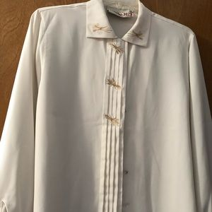 Susan Bristol long sleeve silk blouse